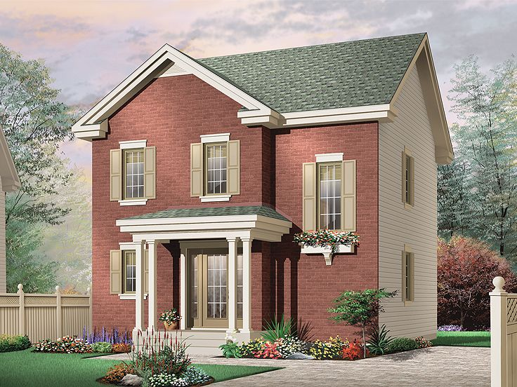 2-Story Home Plan, 027H-0220