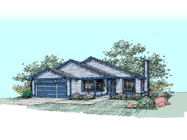 Small Home Plan, 013H-0052