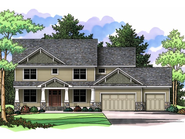 Arts & Crafts Home Plan, 023H-0138