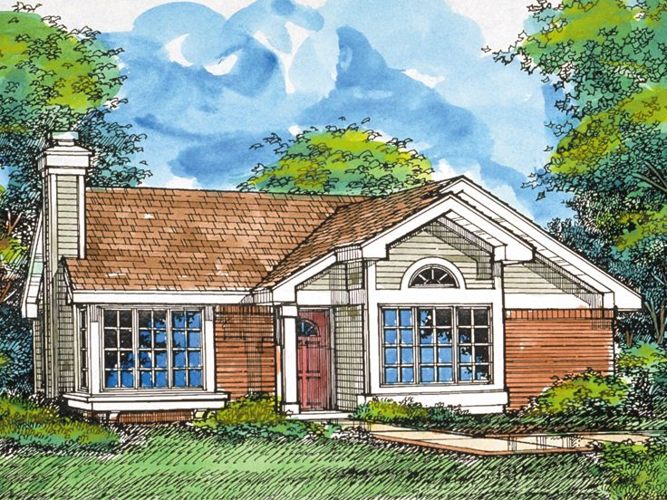 Small Ranch Home Plan, 022H-0090