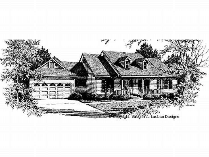 Ranch House Plan, 004H-0080