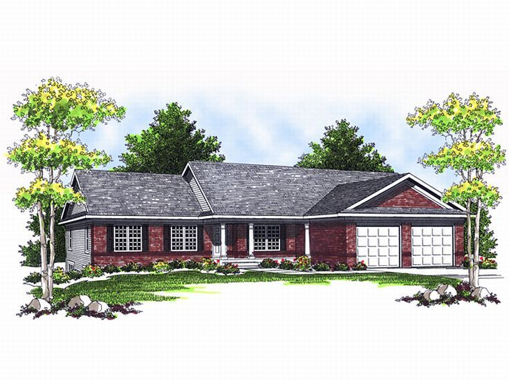 Ranch Home Plan, 020H-0090