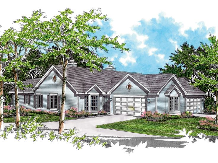 Multi-Family Home Plan, 034M-0018