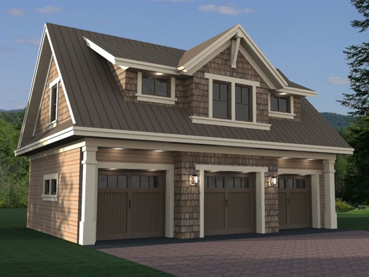 Carriage house plans craftsman style carriage house plan for Home designs 3 car garage