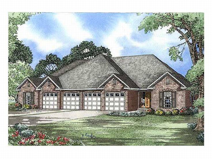 Duplex Home Plan, 025M-0035