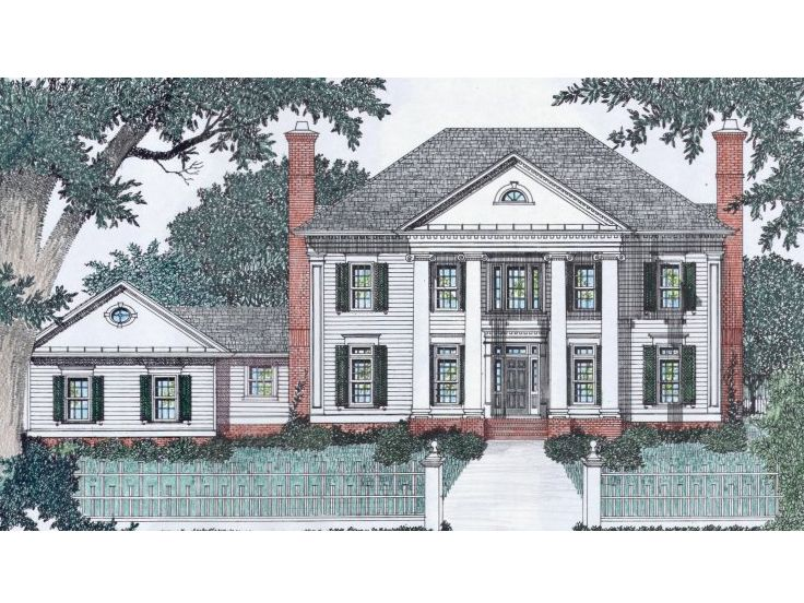 Colonial Home Plan, 045H-0064