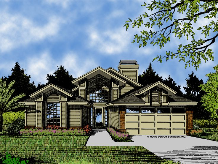 Contemporary Home Plan, 043H-0058