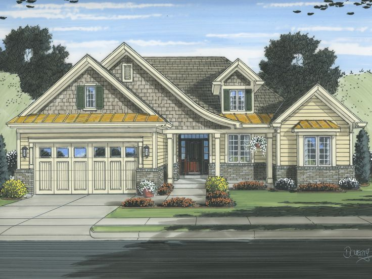 Empty-Nester House Plan, 046H-0103