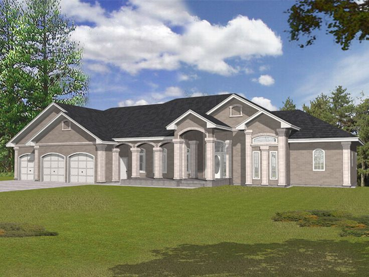 Ranch House Plan, 018H-0019