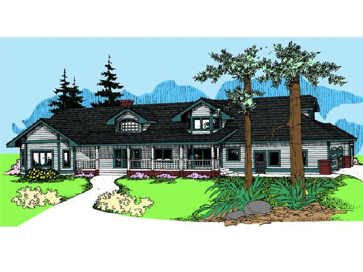 Country Ranch Home Plan, 013H-0056