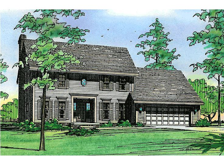 Cape Cod House Plan, 031H-0050