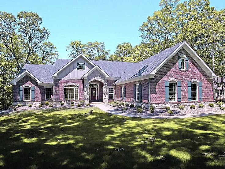 Plan 055h 0016 find unique house plans home plans and for Large ranch style homes