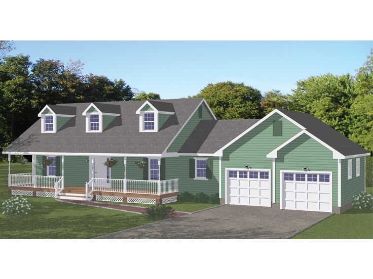 Small Country House Plan, 078H-0046