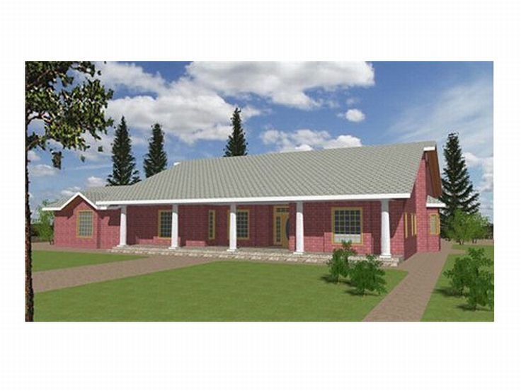 Ranch House Plan, 012H-0004