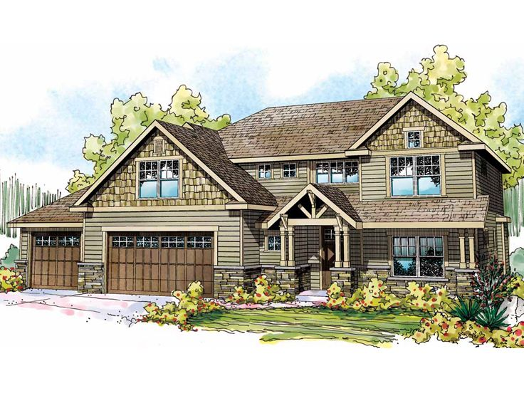 Craftsman Home Plan, 051H-0186