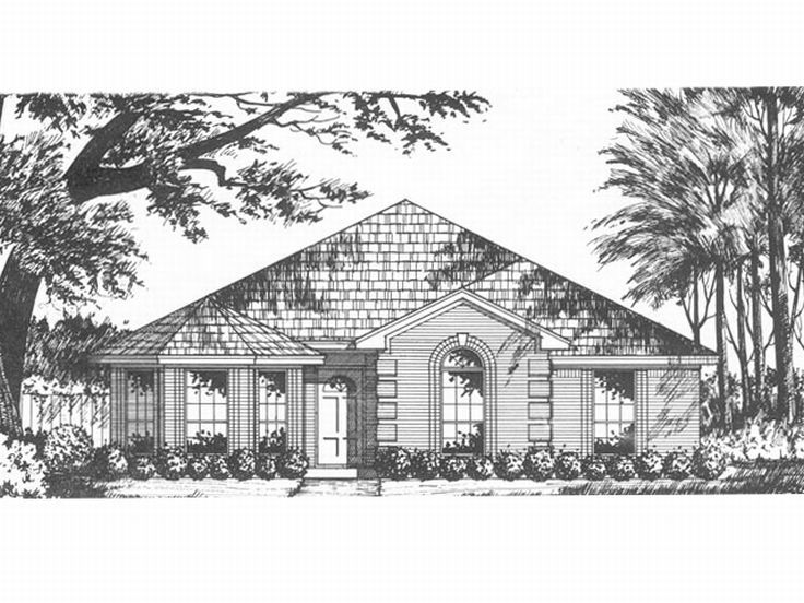 Narrow Lot Home Design, 015H-0024