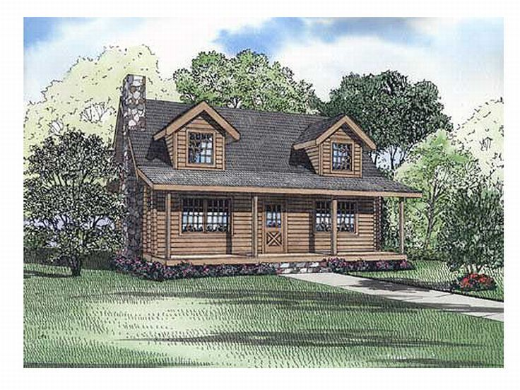 Log Home Plan, 025L-0018