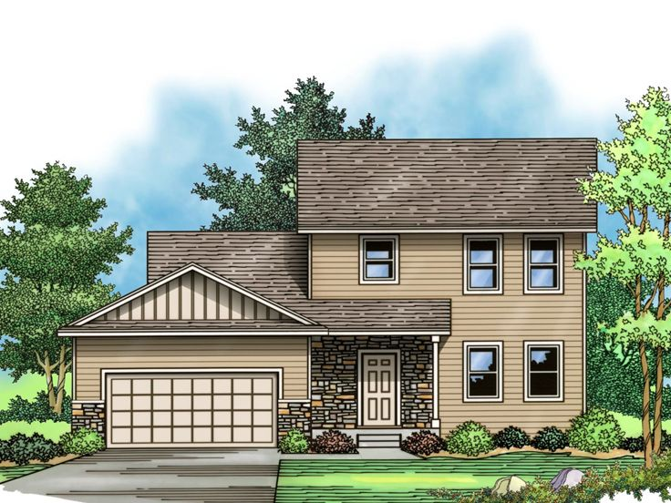 2-Story Home Plan, 023H-0161