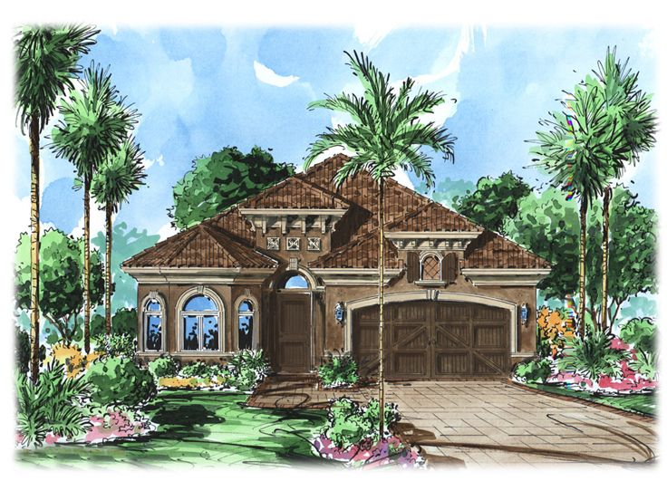 Narrow Lot Home Plan, 037H-0086
