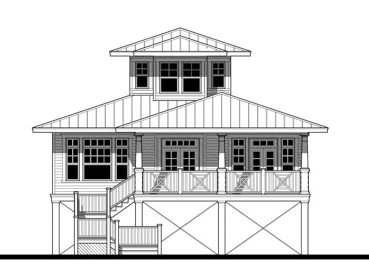 Coastal Home Plan, 052H-0061