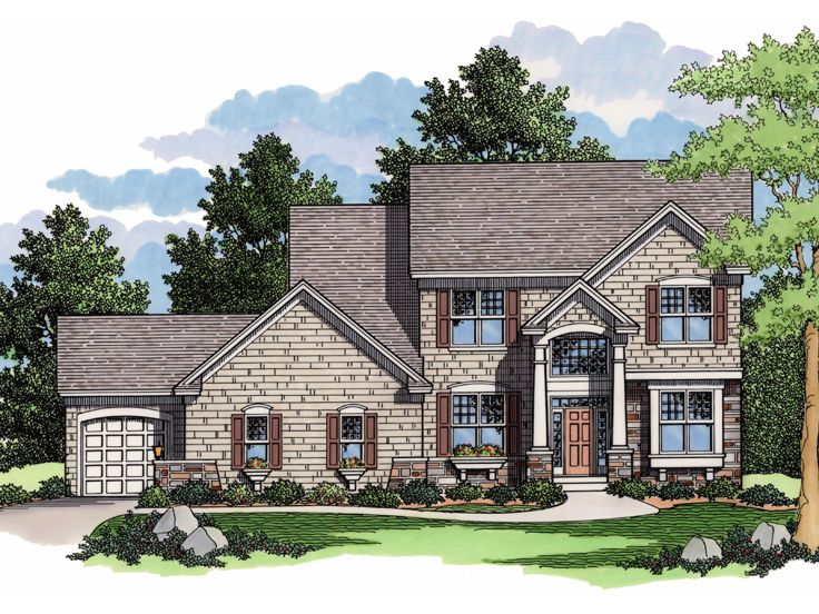 2-Story House Plan, 023H-0103