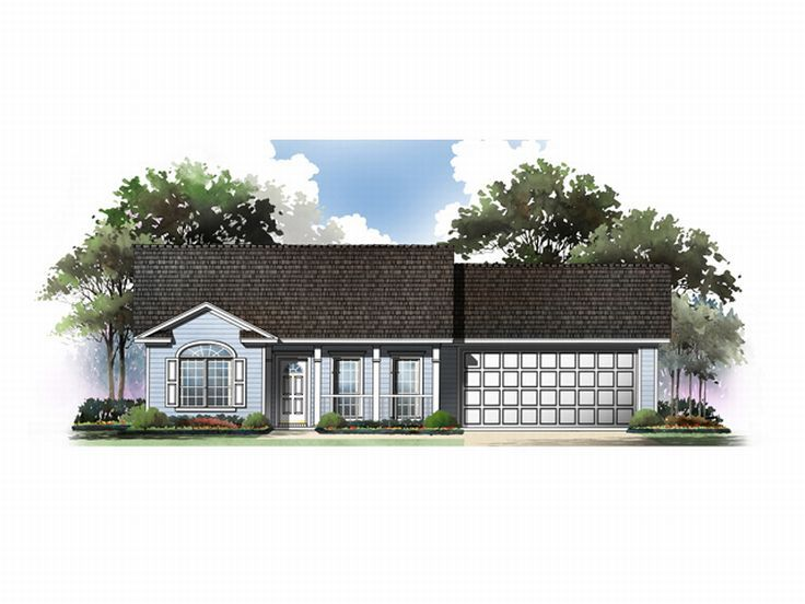 Ranch House Plan, 001H-0011