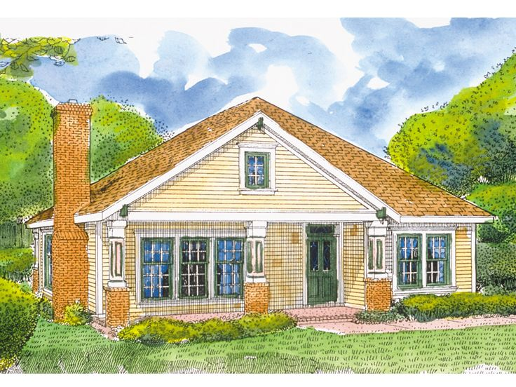 Ranch Home Plan, 054H-0101