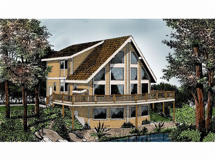 A-Frame Home Plan, 026H-0095
