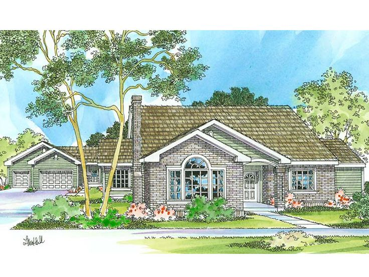 Ranch Home Plan, 051H-0070