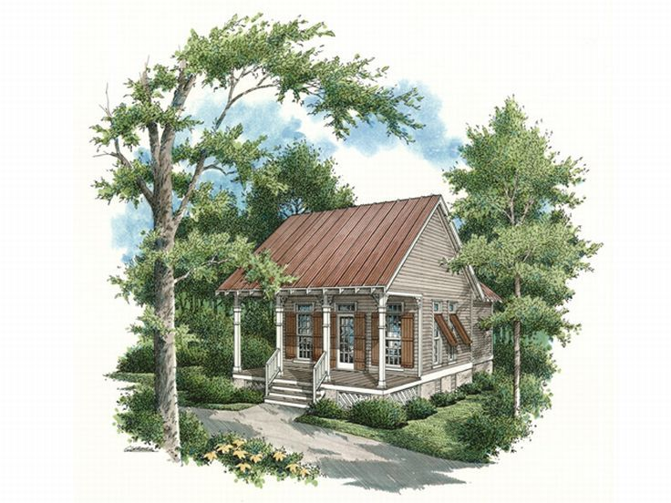 Cabin Home Plan, 021H-0001