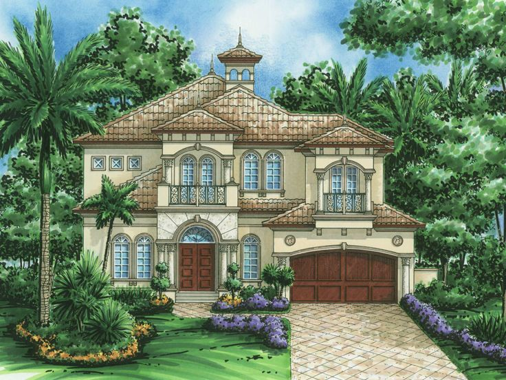 Mediterranean Home Plan, 040H-0066