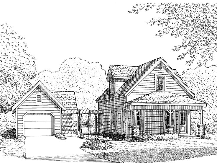 Vacation Home Plan, 054H-0096