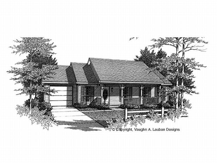 Ranch House Plan, 004H-0004