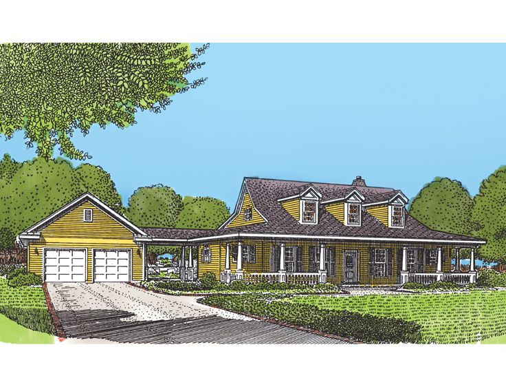 Ranch Home Plan, 054H-0009