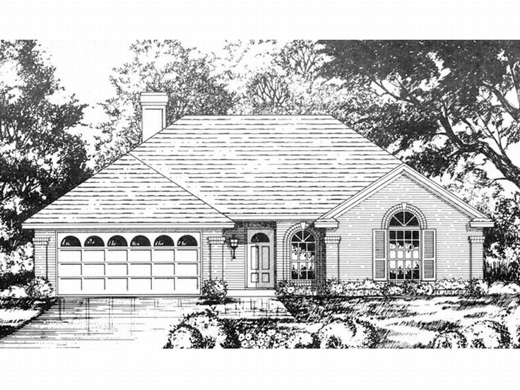 Ranch House Plan, 015H-0018