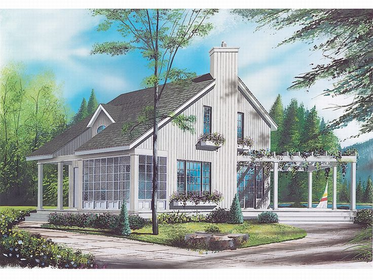 Cottage Design, 027H-0072