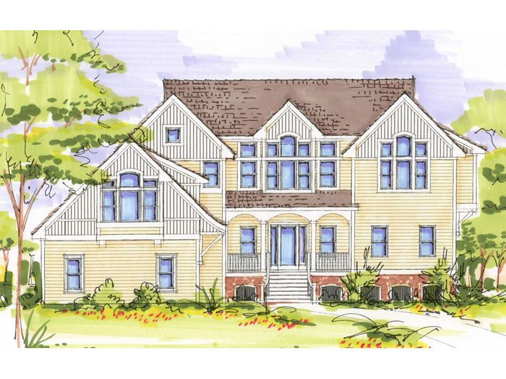 Two-Story House Plan, 041H-0108