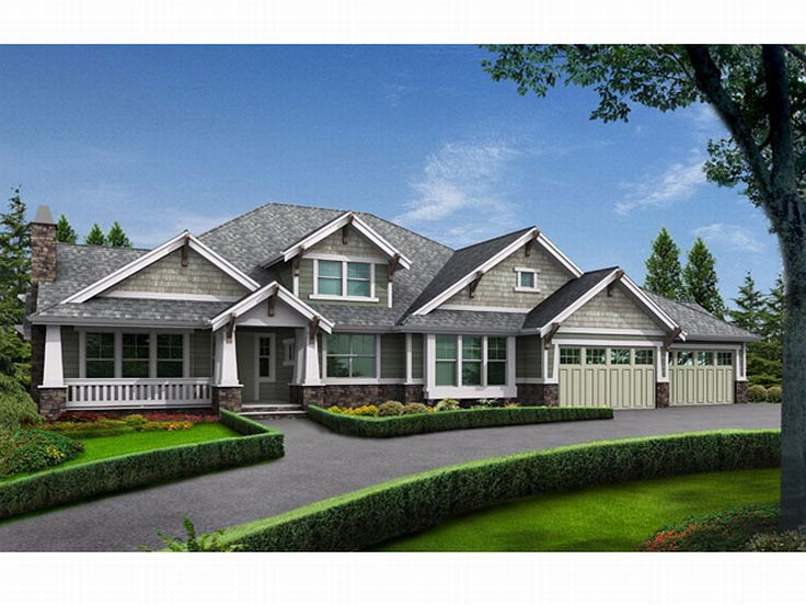 Arts & Crafts House Plan, 035H-0074