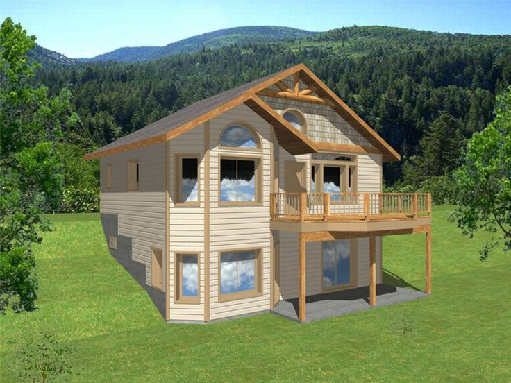 Plan 012h 0012 find unique house plans home plans and for Hillside cabin plans