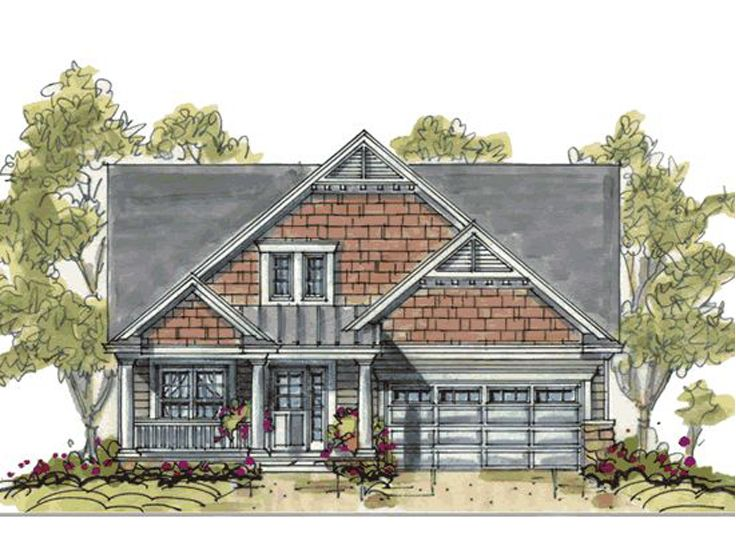 Narrow Lot House Plan, 031H-0139