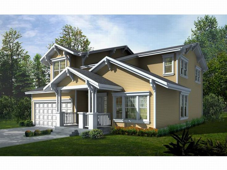 Narrow Lot House Plan, 026H-0031