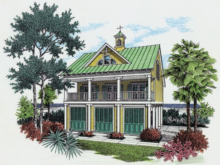 bungalow house plan 021h 0024 - Coastal House Plans