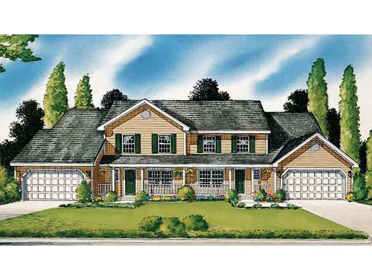 Plan 047m 0001 find unique house plans home plans and for Multi family house plan