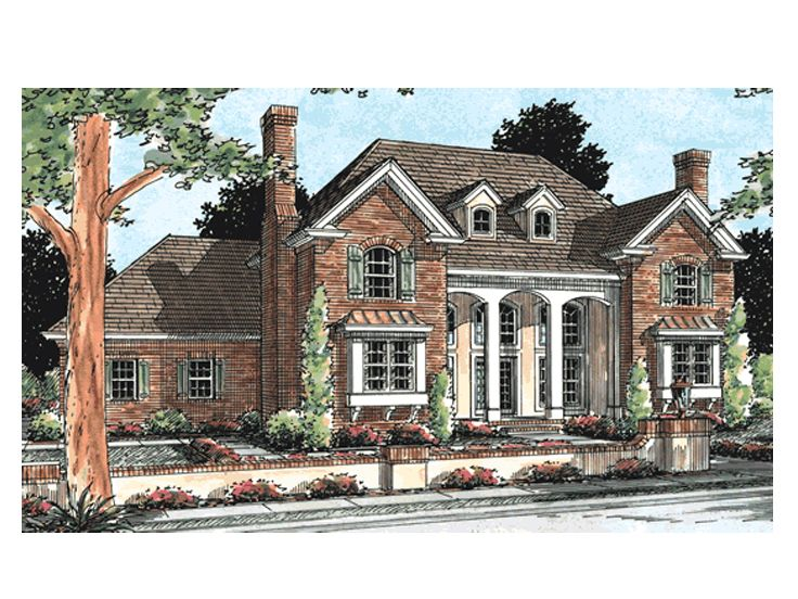 Luxury House Plans 2 Story Luxury Home Plan 059h 0050