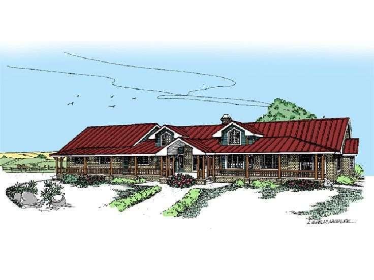 Country Home Plan, 013H-0038