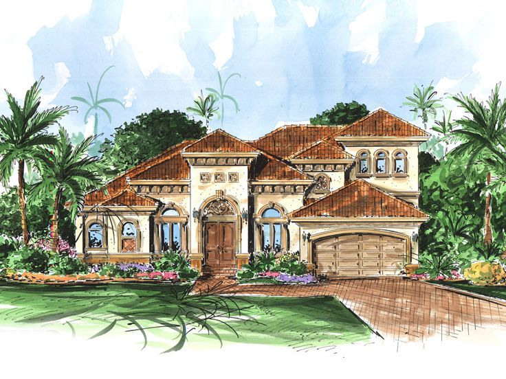 Florida House Design, 037H-0019