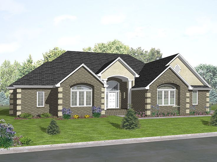 Ranch Home Plan, 016H-0027