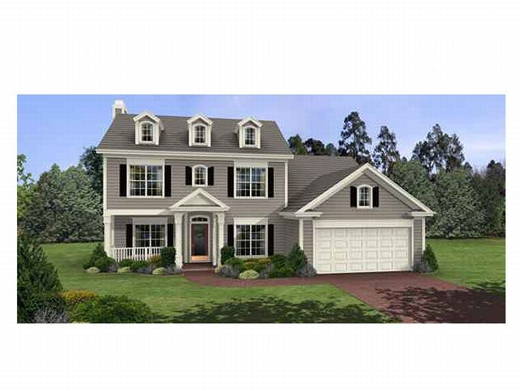 Colonial House Plan, 007H-0029