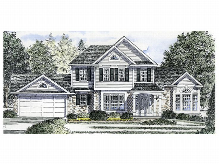 2-Story Home Plan, 014H-0035