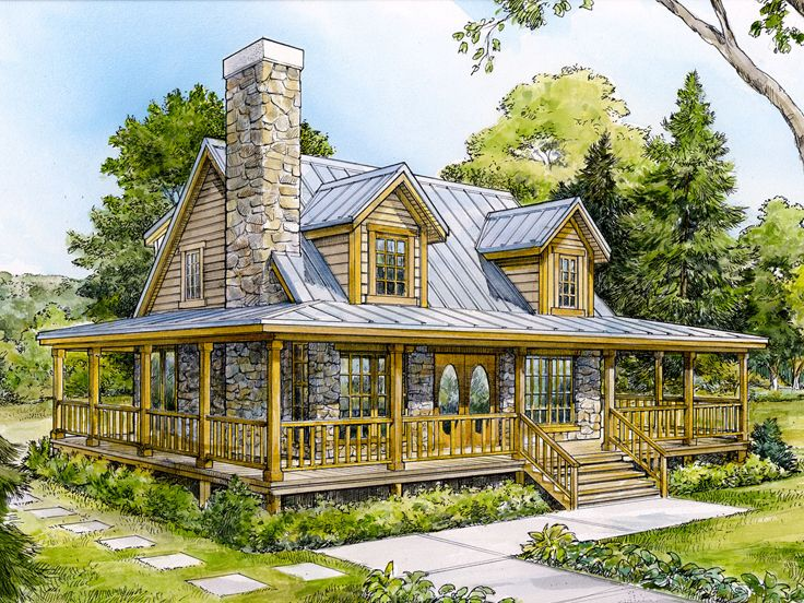 Mountain house plans small mountain home plan design for Country mountain homes